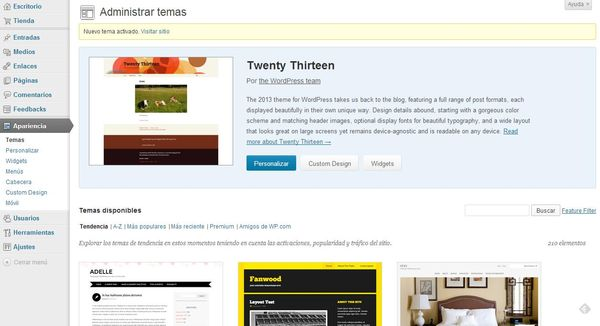 Crear un blog con WordPress - Cursobloggers